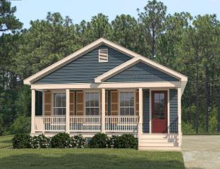 The Stylish Exterior of the Martin I Franklin Homes Manufactured Home from Magnolia Estates in Vicksburg, MS