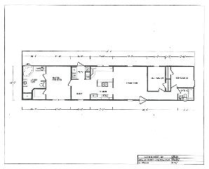The Open Floor Plan of the MD-105 Kabco Builders Manufactured Home from Magnolia Estates in Vicksburg, MS