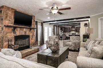 The Cozy Living Room of the KB-3244 Kabco Builders Manufactured Home from Magnolia Estates in Vicksburg, MS