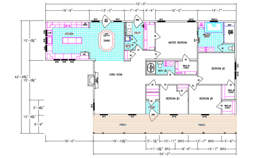 The Lilly 2 Floorplan
