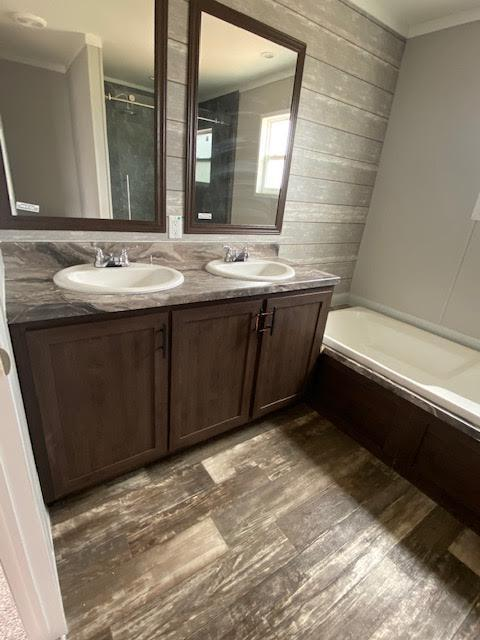 The Modern Bathroom of the Frenchman Champion Leesville Manufactured Home From Magnolia Estates in Vicksburg, MS