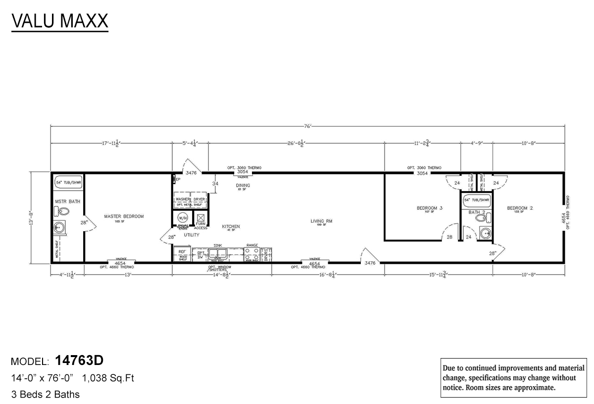 Value Max Floor plan