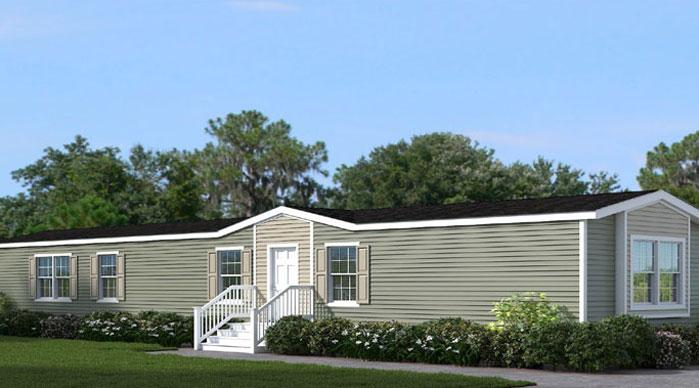 The Welcoming Exterior of the Mei Franklin Homes Manufactured Home from Magnolia Estates in Vicksburg, MS