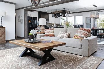 The Open Living Space of the Sumner Cavalier Home Builders Manufactured Home from Moody Properties Demopolis in Demopolis, Alabama