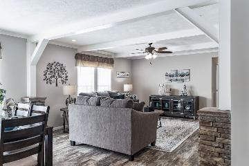 The Open Living Space of the Roddy Buccaneer Homes Manufactured Home from Worldwide Homes in Lumberton, Texas