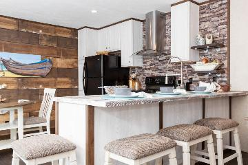 The Cozy Kitchen of the Edge B Southern Homes Manufactured Home from Worldwide Homes in Lumberton, Texas