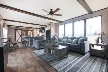 The Open Floor Plan of the Seaside Southern Homes Manufactured Home from Worldwide Homes in Lumberton, Texas