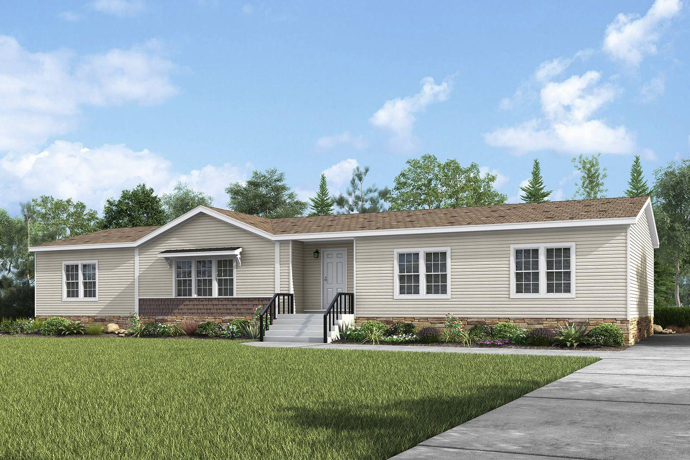 Exterior of the Whitmore Manufactured Home from Worldwide Mobile Homes in Lumberton, Texas