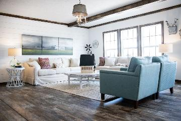 The Comfortable Living Area of the Emma Jean Buccaneer Homes Manufactured Home from Worldwide Homes in Lumberton, Texas