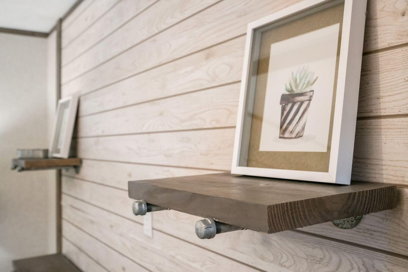 Shiplap walls in the Edge Manufactured Home from Worldwide Mobile Homes in Lumberton, Texas