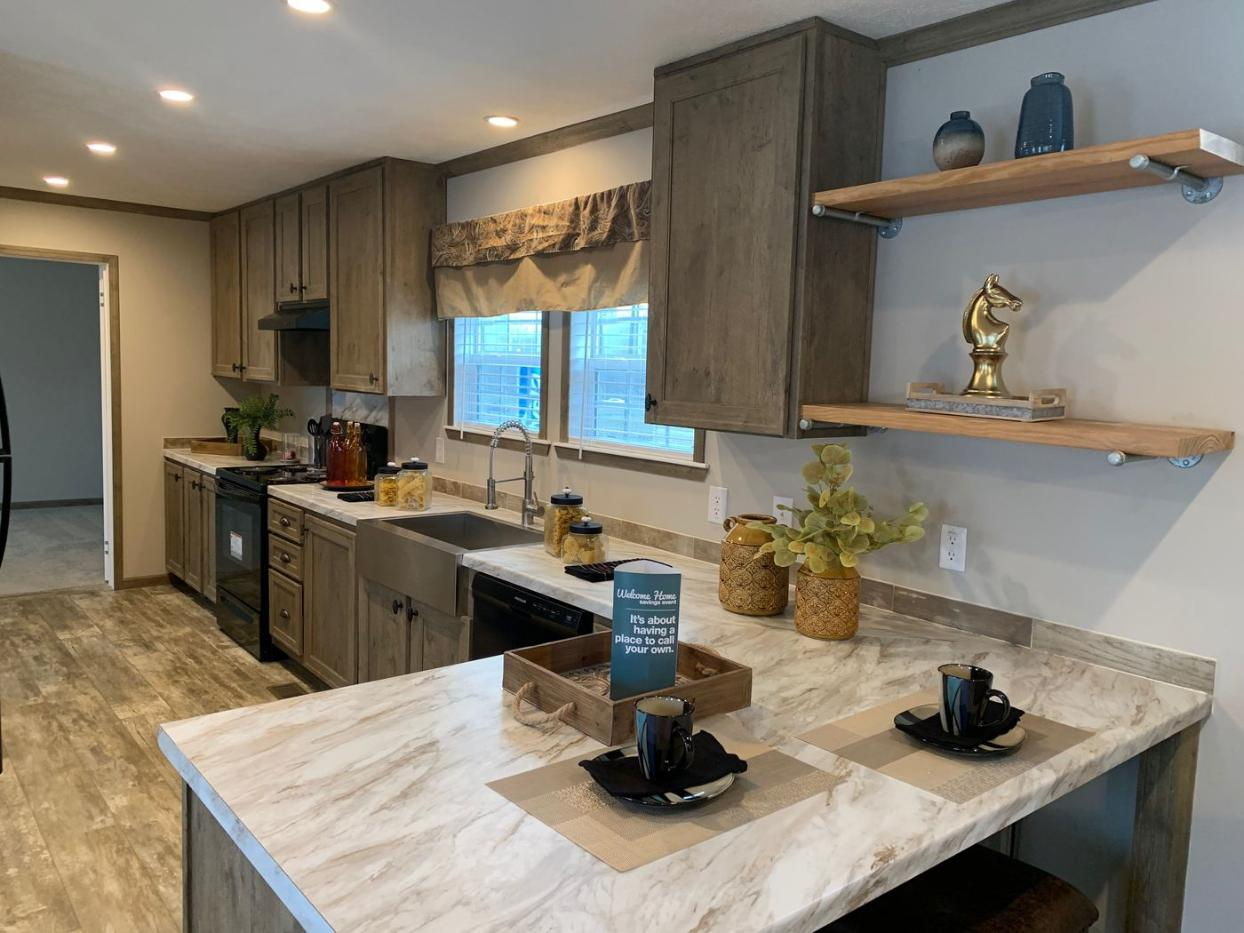 Kitchen of The Eli Mae Manufactured Home From Worldwide Mobile Homes in Lumberton, TX