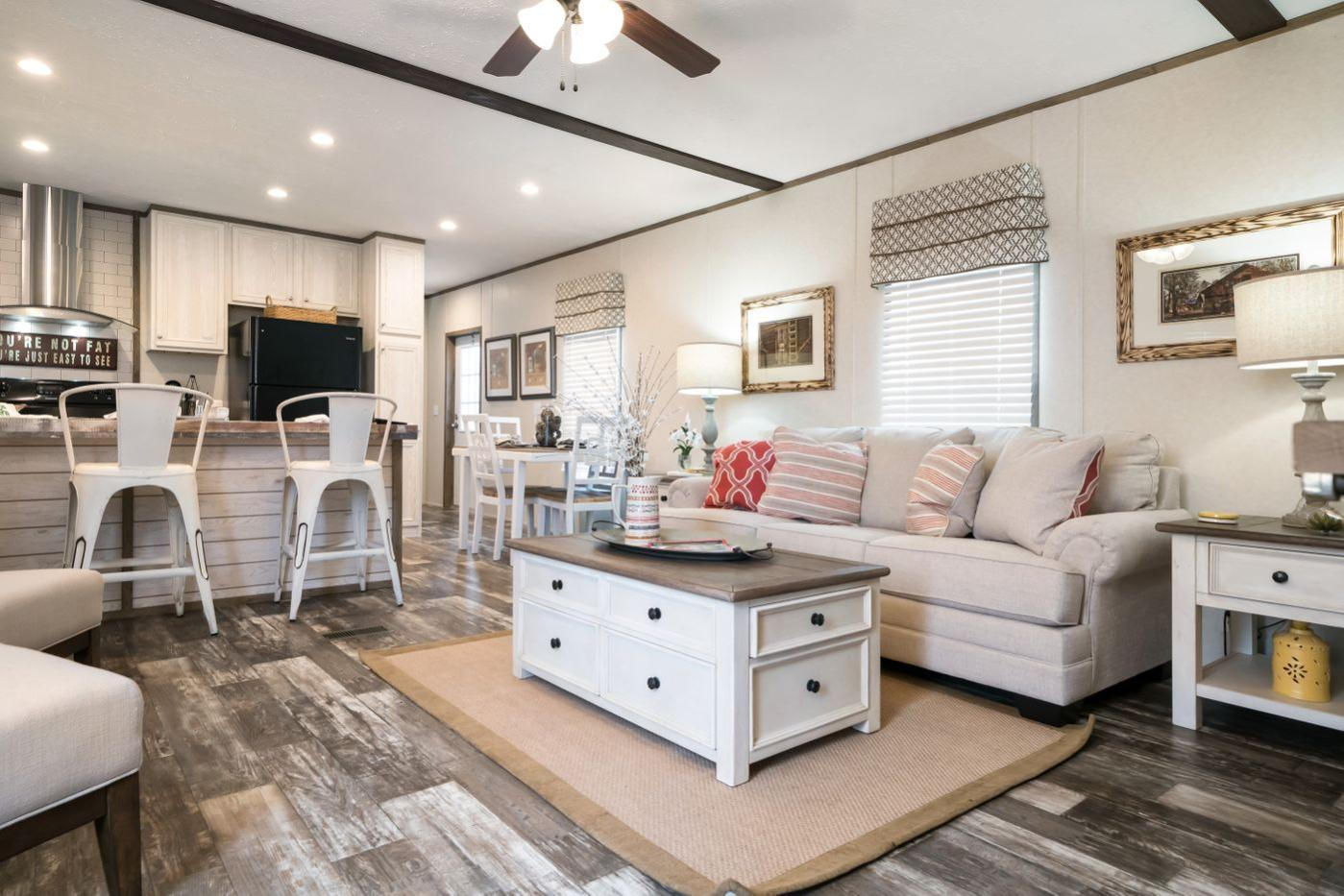 Living Room in the Edge Manufactured Home from Worldwide Mobile Homes in Lumberton, Texas