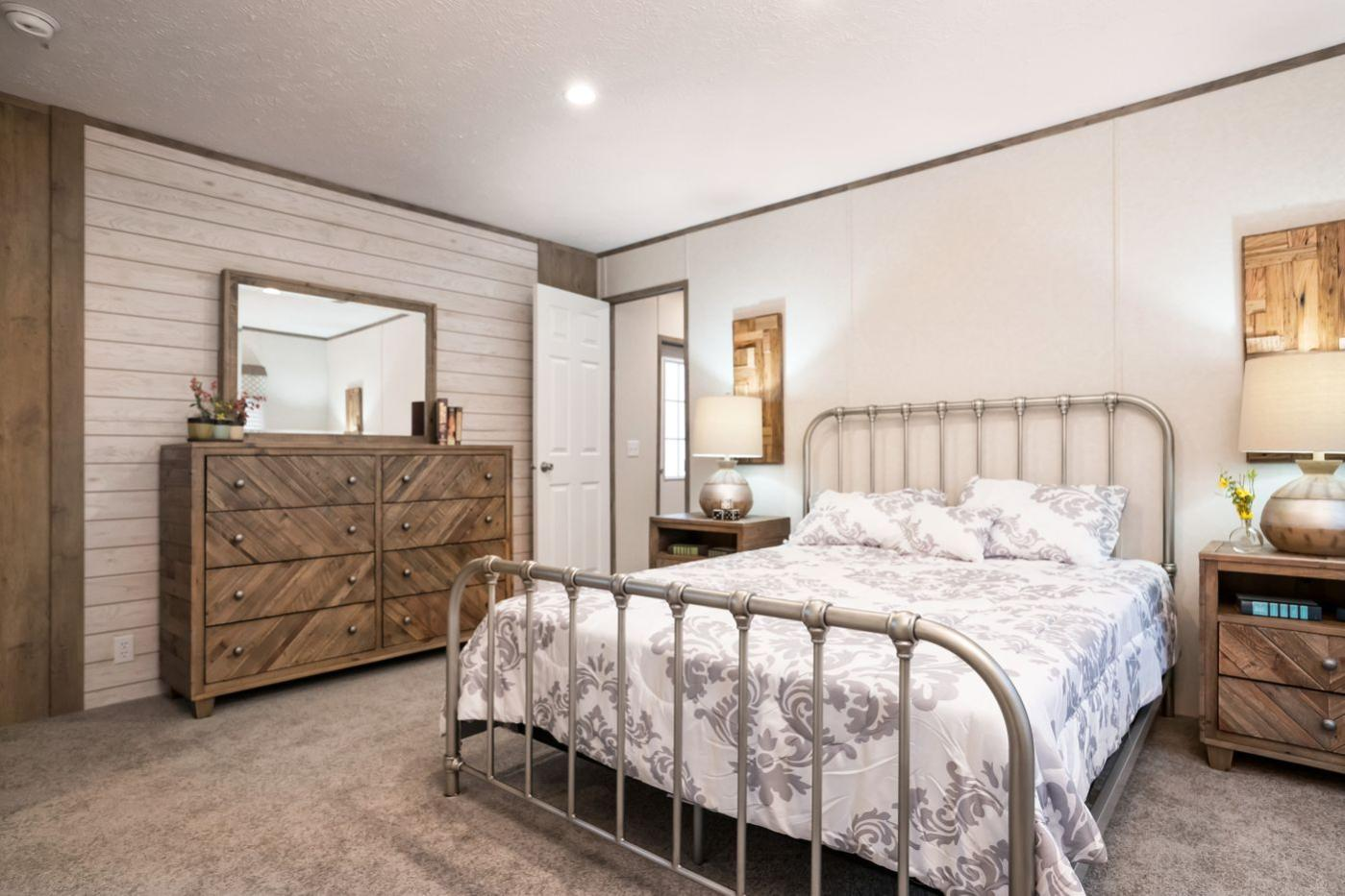 Bedroom in the Edge Manufactured Home from Worldwide Mobile Homes in Lumberton, Texas