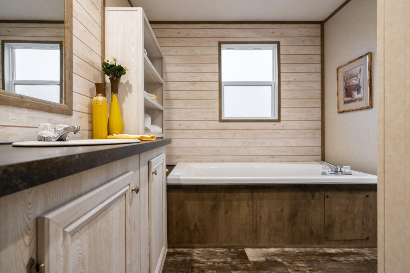 Bathroom in the Edge Manufactured Home from Worldwide Mobile Homes in Lumberton, Texas
