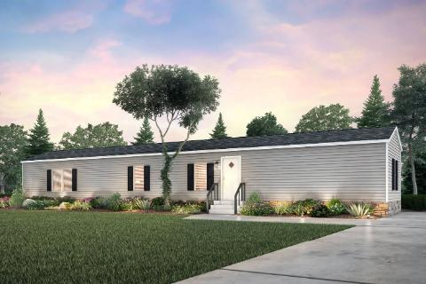 Exterior of the Z-Bar Manufactured Home From Worldwide Mobile Homes in Lumberton, TX