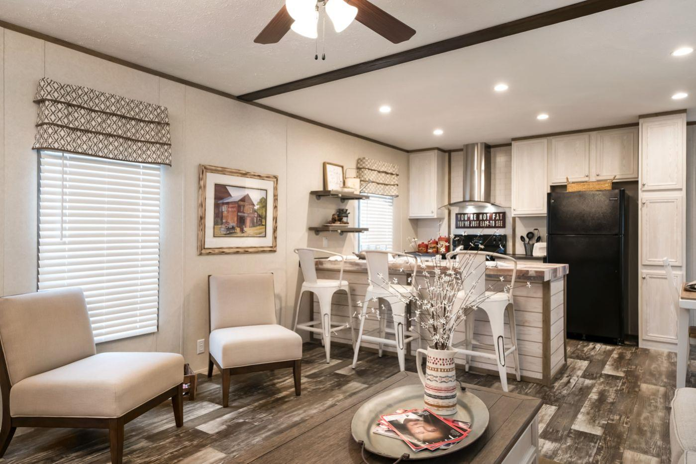 Kitchen of the Edge Manufactured Home from Worldwide Mobile Homes in Lumberton, Texas
