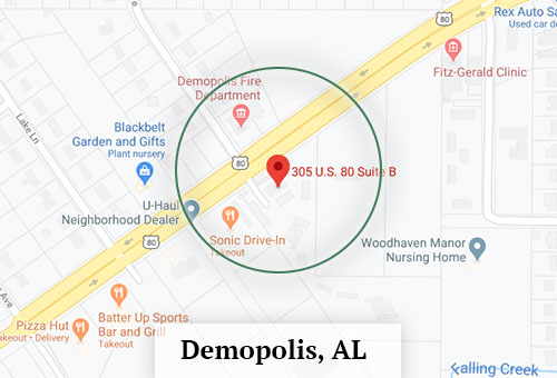 Map of Moody Properties in Demopolis, AL