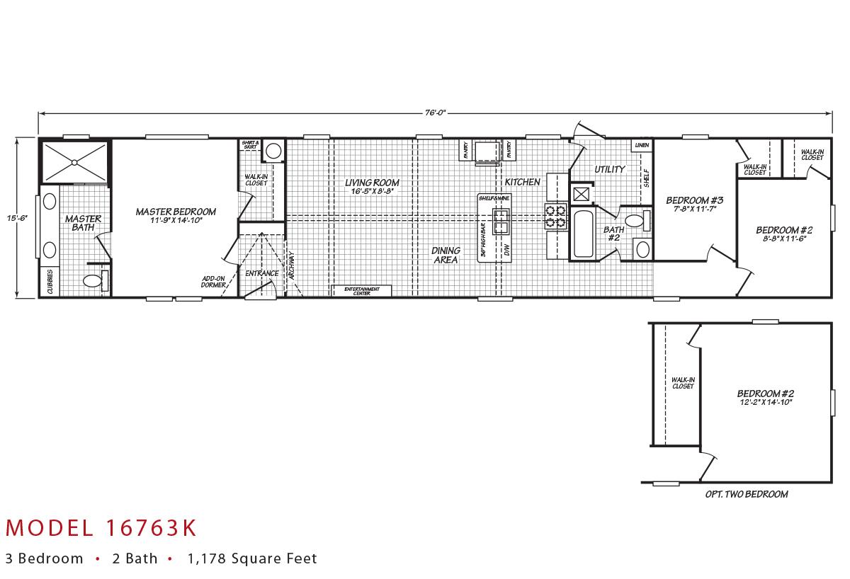 Canyon Lake - 16763K Floorplan