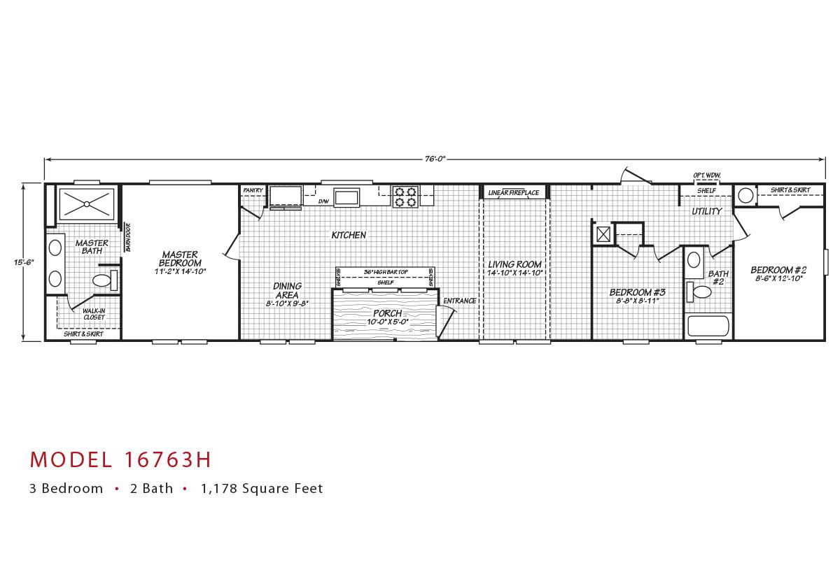 Canyon Lake - 16763H Floorplan