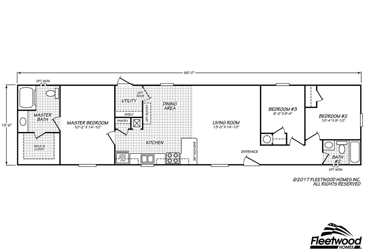 Sandalwood XL - 16663X Floorplan