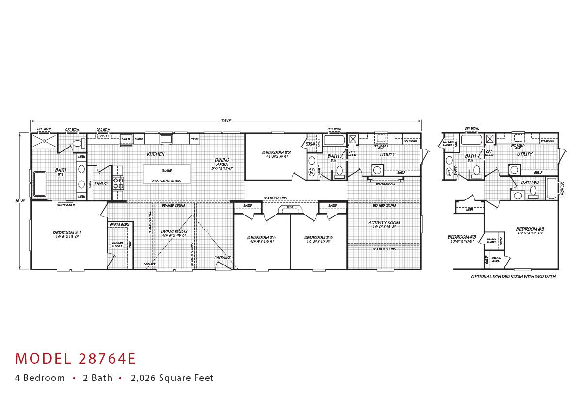 Sandalwood XL - 28764E Floorplan