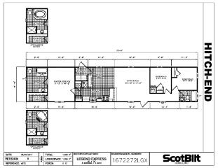 Legend Express 16x76 Floorplan