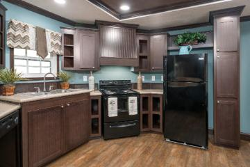 The Modern Kitchen of the Legend Express 16x80 ScotBilt Homes Manufactured Home from Moody Properties Centreville in Centreville, AL