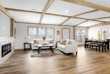The Open Living Space of the Dauphine Champion Leesville Manufactured Home from Magnolia Estates in Brookhaven, MS