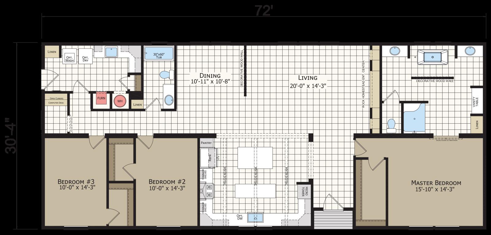 The Alpha  Floorplan