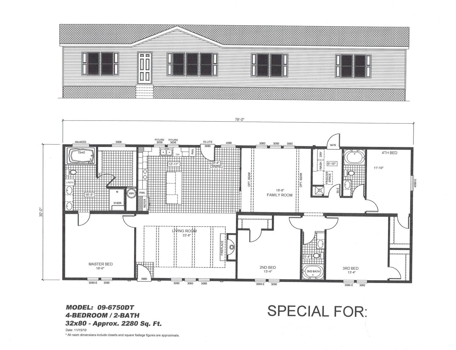 The Cavalier II  Floorplan