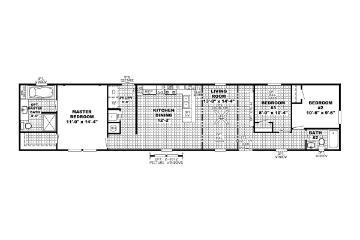 The Edge 16x72 Floorplan