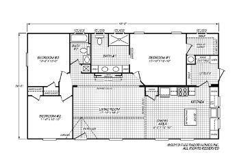 Sandalwood 16763F Floorplan