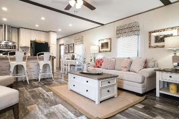 The Spacious Living Area of the EDG16642A Southern Homes Manufactured Home from Timberline Homes of Jasper, AL