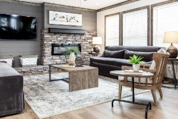 The Modern Living Room of the Anderson Cavalier Homes Manufactured Home from Timberline Homes of Jasper, AL