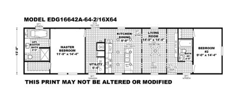 The Edge 16x64 Floorplan