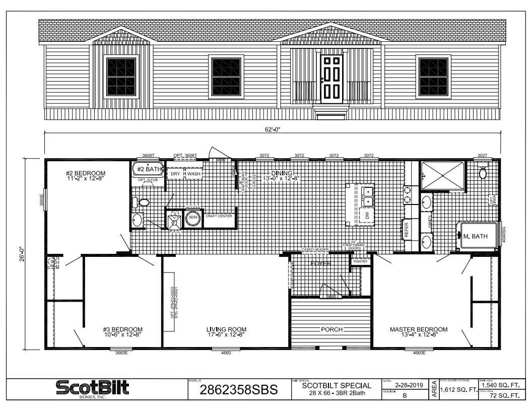 Scotbilt MH Advantage Floorplan