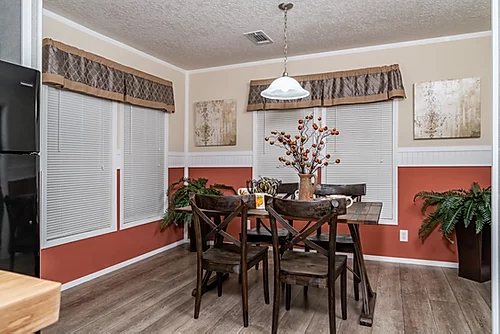 The dining room of the Scot Bilt Grand Slam manufactured home from Affordable Homes of Crestview