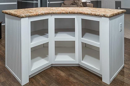 The kitchen island of the Scot Bilt Home Run manufactured home from Affordable Homes of Crestview