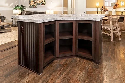 The kitchen island of the Scot Bilt Grand Slam manufactured home from Affordable Homes of Crestview