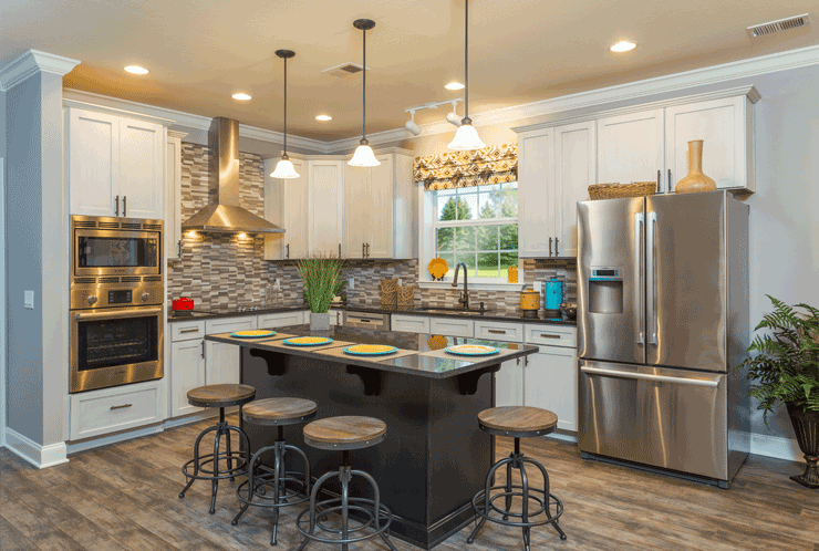 The kitchen of the Franklin Homes The Holly manufactured home from Affordable Homes of Crestview