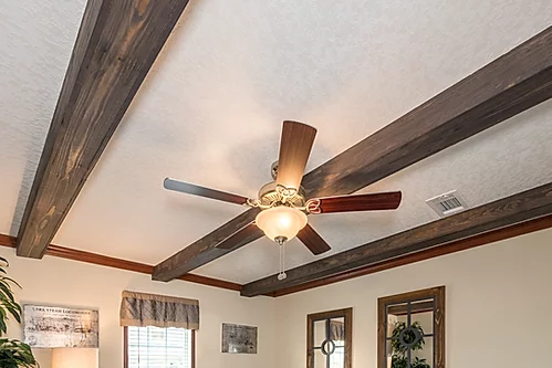 The accent beams of the Scot Bilt Legend manufactured home from Affordable Homes of Crestview