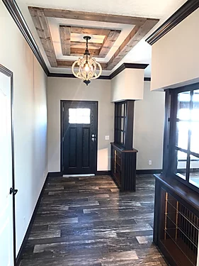 The entryway of the Scot Bilt Freedom manufactured home from Affordable Homes of Crestview