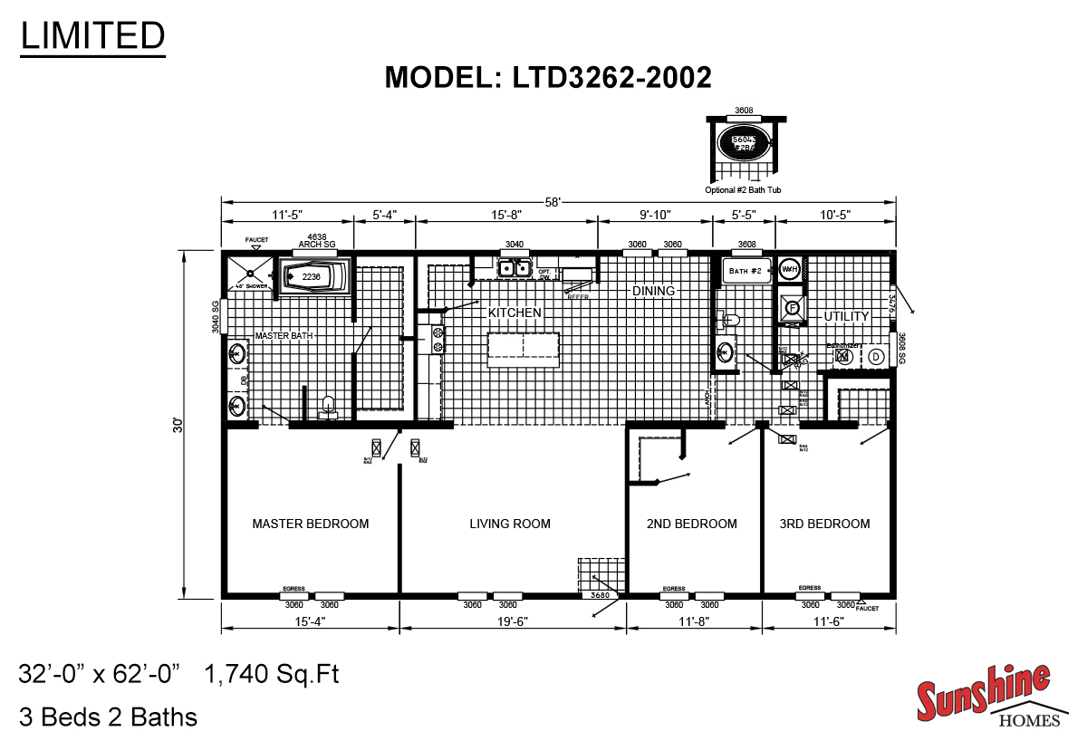 Limited / LTD3262-2002 Floorplan