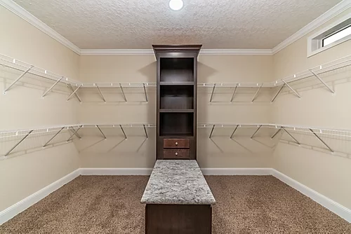 The closet of the Scot Bilt Freedom manufactured home from Affordable Homes of Crestview