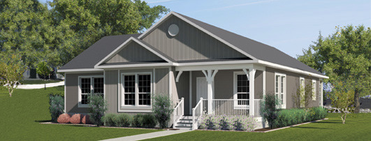 The exterior of the Franklin Homes The Holly manufactured home from Affordable Homes of Crestview