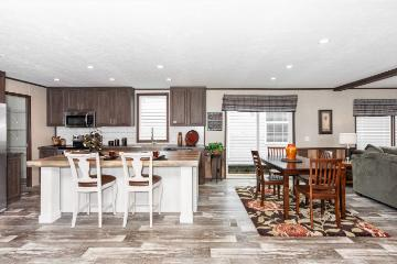 The Modern Kitchen of the Riverway a Clayton Homes Manufactured Home from Timberline Homes of Tuscaloosa, AL