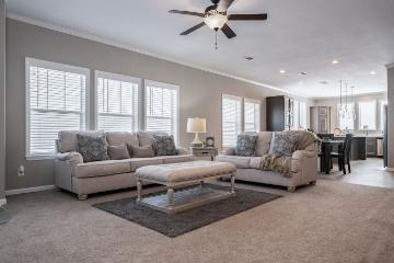 The Open Floor Plan of the Huxton a Clayton Homes Manufactured Home from Timberline Homes of Tuscaloosa, AL
