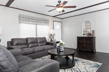 The Cozy Living Area of the EDGE28603A a Southern Homes Manufactured Home from Timberline Homes of Tuscaloosa, AL