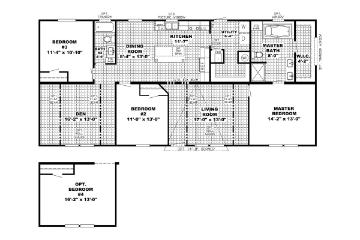 The Edge 28x60 Floorplan