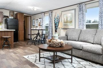 The Cozy Living Area of the Victory Plus TRU Manufactured Home from Timberline Homes of Tuscaloosa, AL